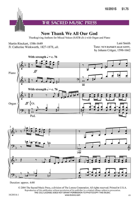 now thank we all our god sheet music pdf