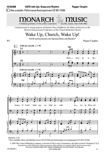 Wake Up, Church, Wake Up!