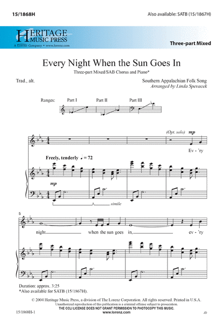 Every Night When the Sun Goes In