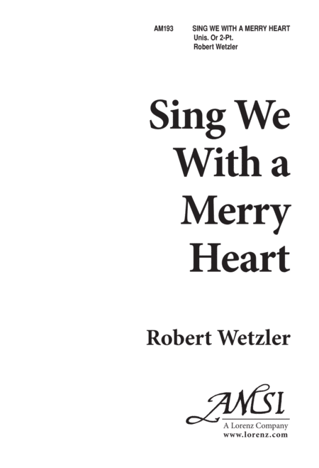 Sing We With a Merry Heart - Unison/Two Part