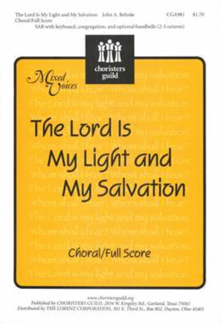 Lord Is My Light and My Salvation - Choral/Full Score