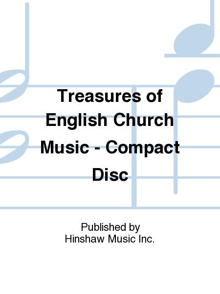 Treasures of English Church Music - Compact Disc