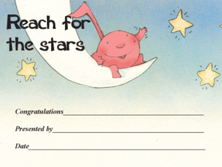 Award Certificates Mini - Reach for the Stars
