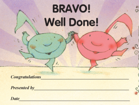 Award Certificates Mini - Bravo