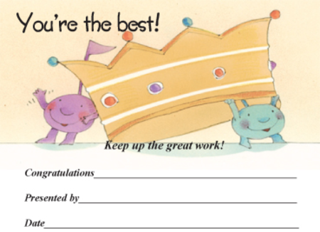 Award Certificates Mini - You're the Best