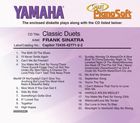 Frank Sinatra - Classic Duets - Piano Software