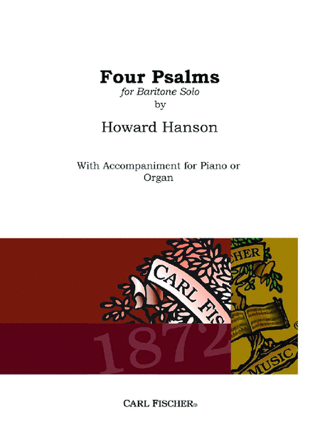 Four Psalms, Opus 50 - for Baritone and Piano/Organ
