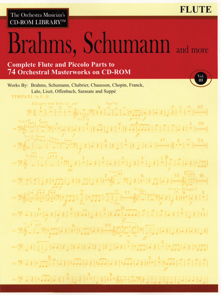 Brahms, Schumann and More - Volume III (Flute)
