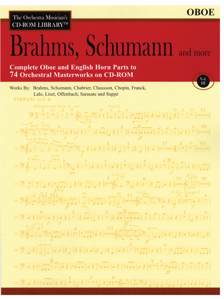 Brahms, Schumann and More - Volume III (Oboe)