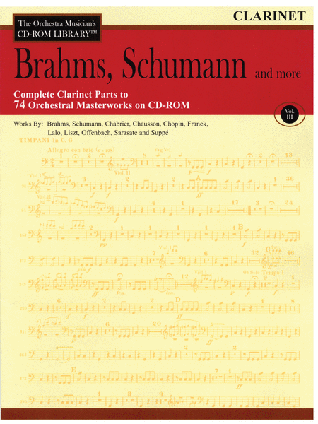 Brahms, Schumann and More - Volume III (Clarinet)