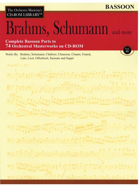 Brahms, Schumann and More - Volume III (Bassoon)