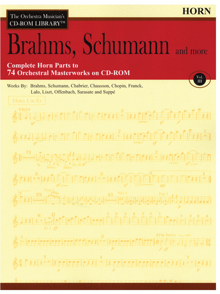 Brahms, Schumann and More - Volume III (Horn)