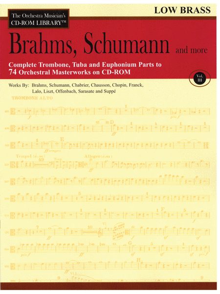 Brahms, Schumann and More - Volume III (Low Brass)
