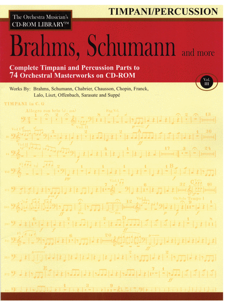 Brahms, Schumann and More - Volume III (Timpani/Percussion)