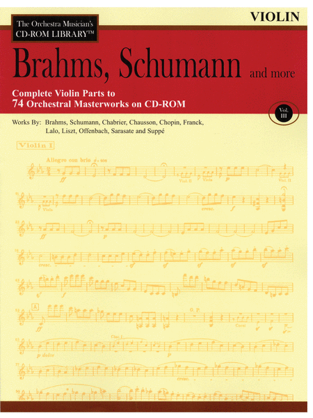 Brahms, Schumann and More - Volume III (Violin)