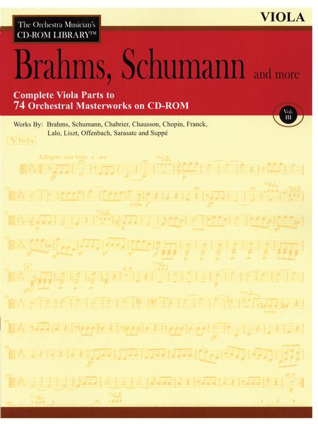 Brahms, Schumann and More - Volume III (Viola)