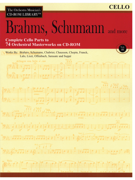 Brahms, Schumann and More - Volume III (Cello)