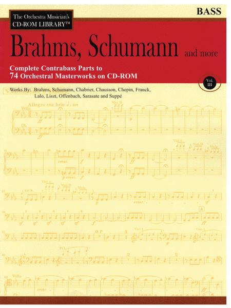 Brahms, Schumann and More - Volume III (Bass)