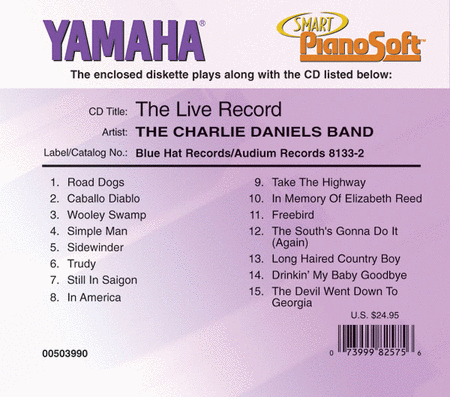 The Charlie Daniels Band - The Live Record - Piano Software