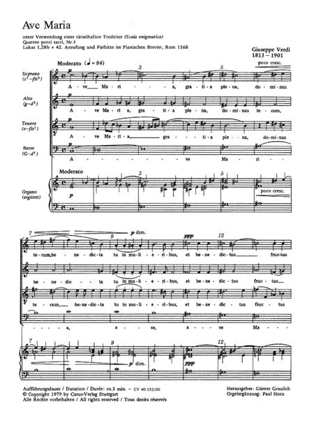 Verdi: Ave Maria