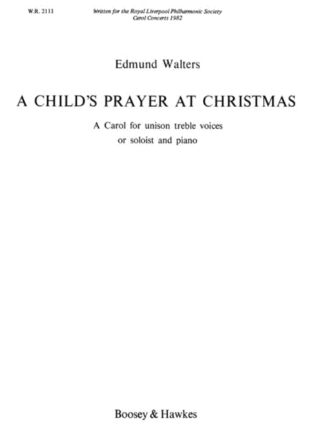 A Child's Prayer at Christmas