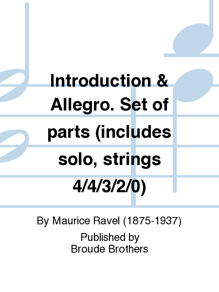 Introduction & Allegro. Set of parts (includes solo, strings 4/4/3/2/0)