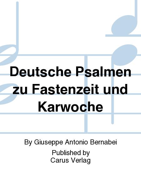 Deutsche Psalmen zu Fastenzeit und Karwoche