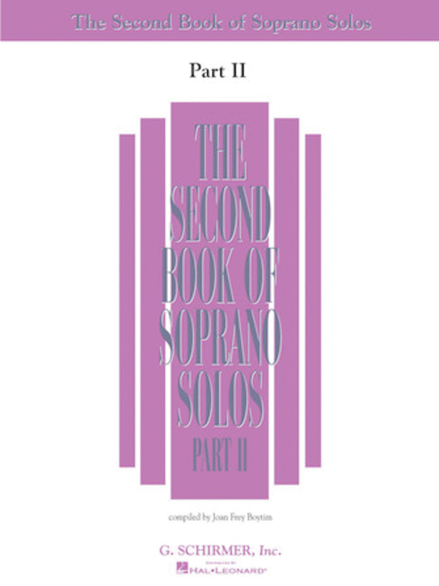 The Second Book of Soprano Solos - Part II (Book Only)