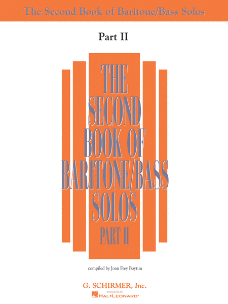 The Second Book of Baritone/Bass Solos - Part II (Book Only)
