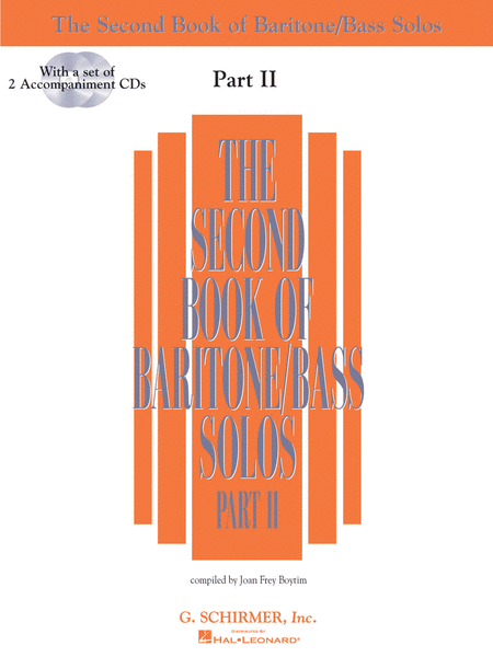 The Second Book of Baritone/Bass Solos - Part II (Book/CDs)