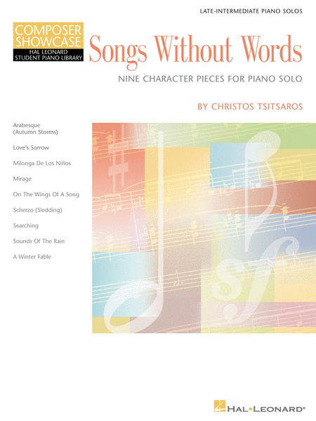Songs Without Words - Nine Character Pieces for Piano Solo