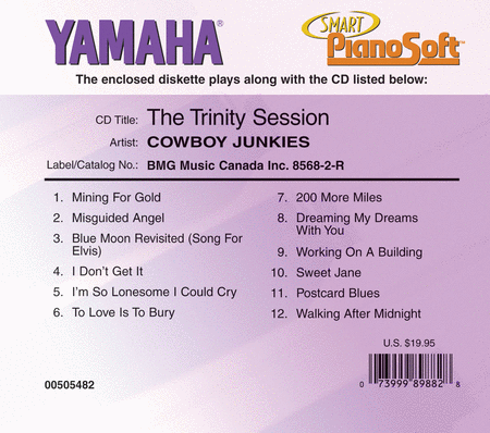 Cowboy Junkies - The Trinity Sessions - Piano Software