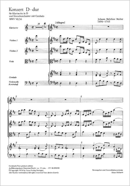 Clarinet Concerto in D major