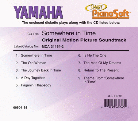 Somewhere in Time - Original Motion Picture Soundtrack - Piano Software