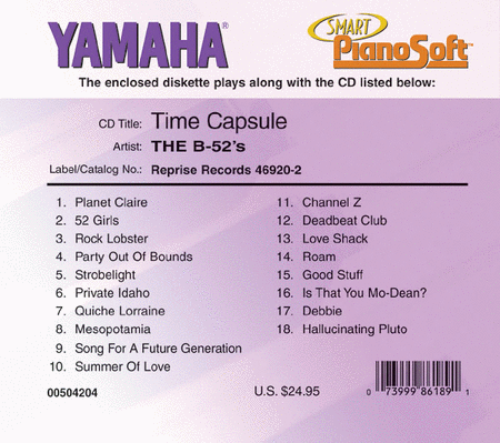 The B-52's - Time Capsule - Piano Software