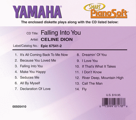 Celine Dion - Falling into You - Piano Software