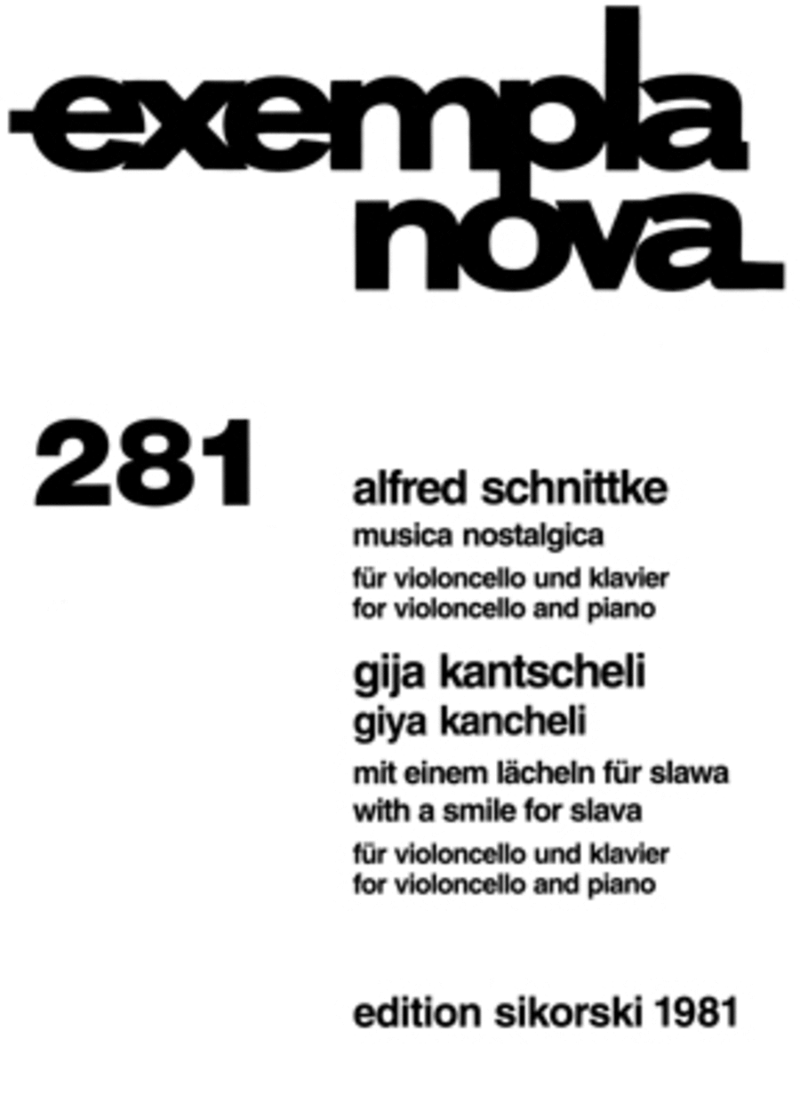 Alfred Schnittke - Musica Nostalgica and Giya Kancheli - With a Smile for Slava