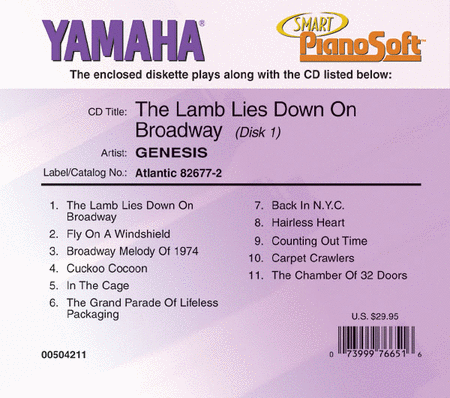 Genesis - The Lamb Lies Down on Broadway (2-Disk Set) - Piano Software