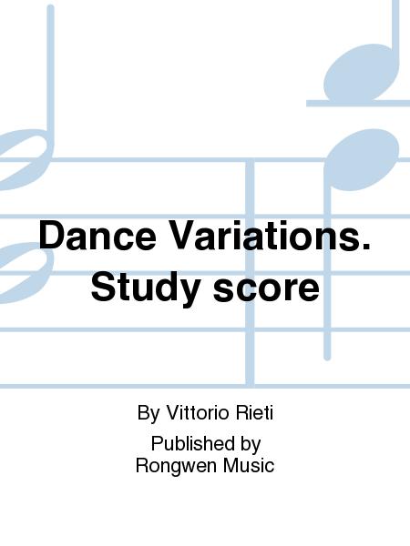 Dance Variations. Study score