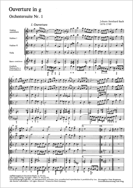 Orchestersuite Nr. 1