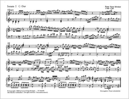 Schnizer: Six Sonatas op. 1