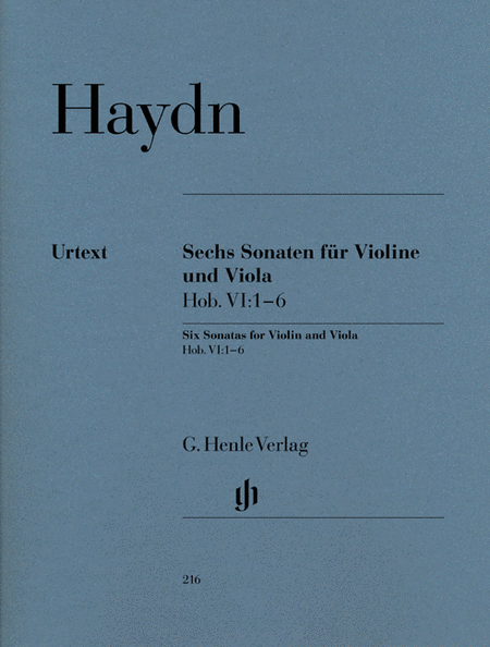 6 Sonatas for Violin and Viola