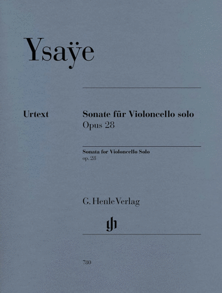 Sonata, Op. 28 - for Violoncello solo