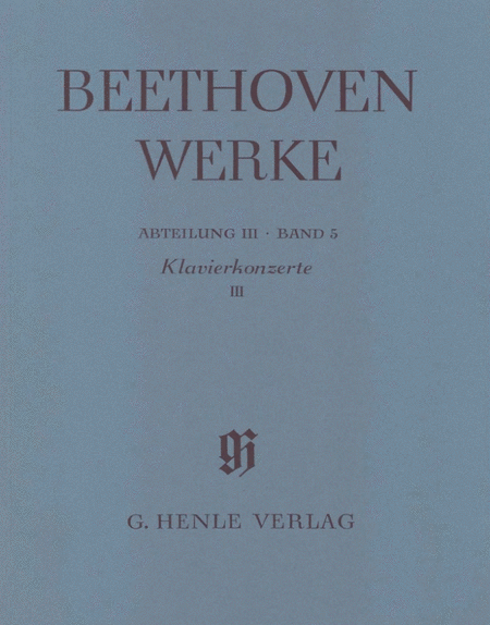 Beethoven: Piano Concertos III