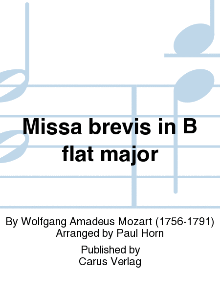Missa brevis in B flat major