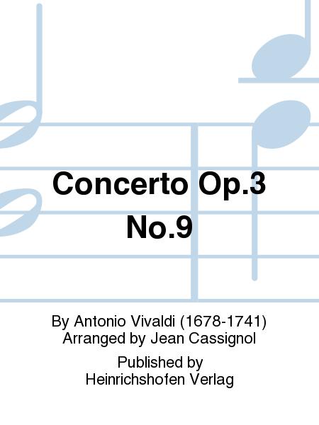 Concerto Op. 3 No. 9