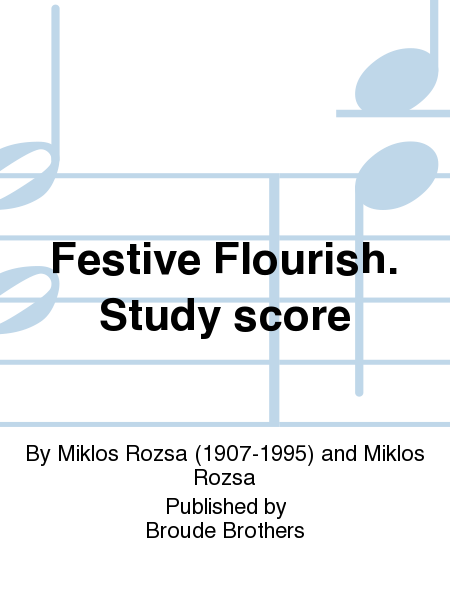 Festive Flourish. Study score