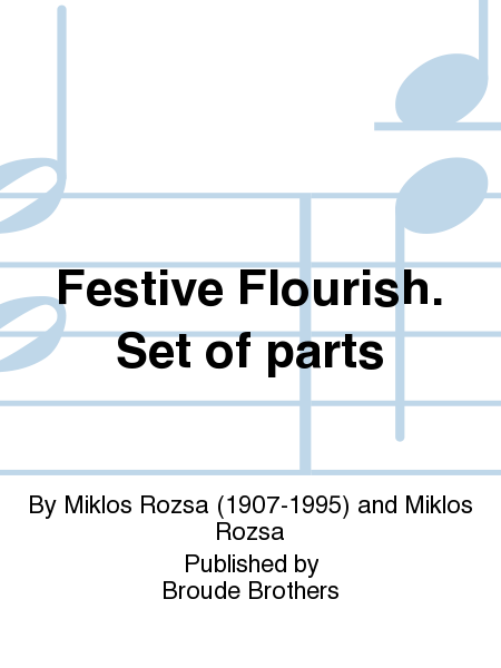 Festive Flourish. Set of parts