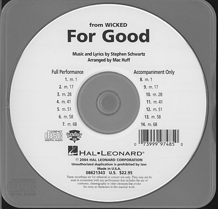 For Good - ShowTrax CD