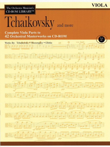 Tchaikovsky and More - Volume IV (Viola)